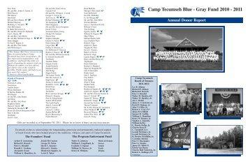 Annual Report 2010-2011 - Camp Tecumseh