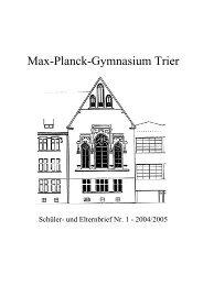 Max-Planck-Gymnasium Trier - MPG Trier
