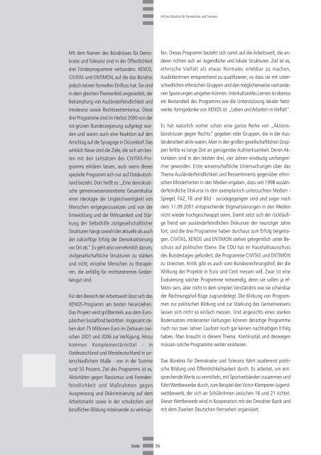 Chancengleichheit braucht Aktivität – Anti ... - Migration-online