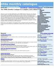 The NHBS Monthly Catalogue in a complete yearly edition