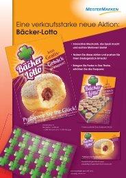 Eine verkaufsstarke neue Aktion: Bäcker-Lotto - MeisterMarken