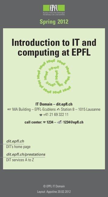 spring 2012 - DIT - EPFL