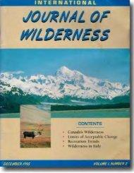 Download the full PDF - International Journal of Wilderness