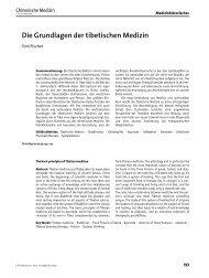 Die Grundlagen der tibetischen Medizin - Chinesische Medizin ...