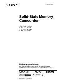 PMW-100 and PMW-200 Manual - PRO.MEDIA