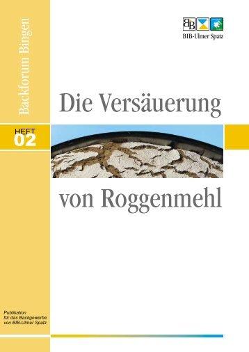 Versäuerung von Roggenmehl - MeisterMarken
