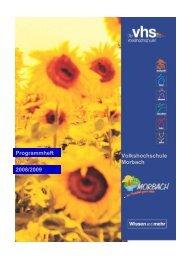 Programmheft Volkshochschule Morbach 2008/2009 - Gemeinde ...