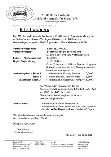 Einladung 2011 - MSC Rockenberg eV im ADAC