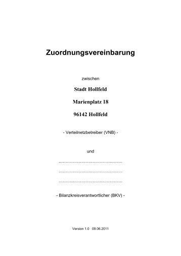 Zuordnungsvereinbarung - Hollfeld