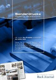 Download Sonderdruck-Informationen - Backtechnik