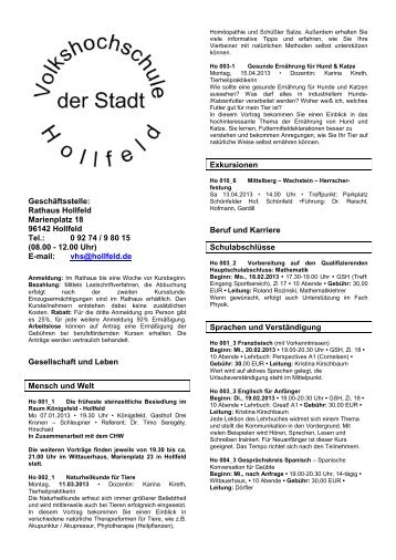 Frühjahr/Sommer 2013 (pdf) - Hollfeld
