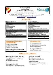 Mitteilungsblatt I N H A L T - Gemeinde St. Bernhard-Frauenhofen