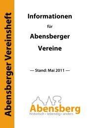 Informationen Abensberger Vereine - Stadt Abensberg