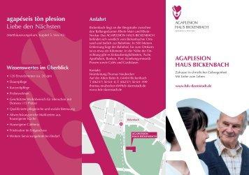 Informations-Flyer Bickenbach (PDF)