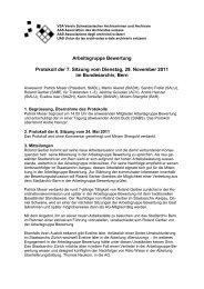 Arbeitsgruppe Bewertung Protokoll der 7. Sitzung vom Dienstag, 29 ...