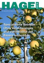 HagelInfo Ausgabe 2010 - Schweizer Hagel-Versicherungs ...