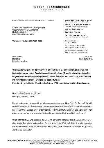 Abmahung F.A.Z. und Stefan Locke - Institut für transkulturelle ...