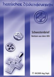 Schwesternbrief August-September - Hessischer Diakonieverein e.V.