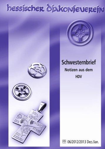 Schwesternbrief Dezember-Januar - Hessischer Diakonieverein e.V.