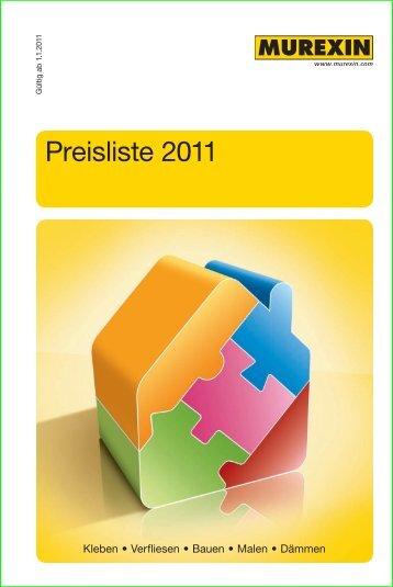 Preisliste 2011 - Murexin AG