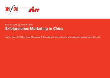 Erfolgreiches Marketing in China - GfM