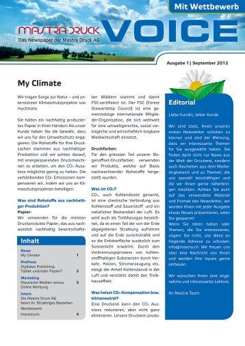Ausgabe Nr. 1 - Mastra Druck AG