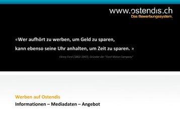 Informationen - Mediadaten - Angebot - Ostendis