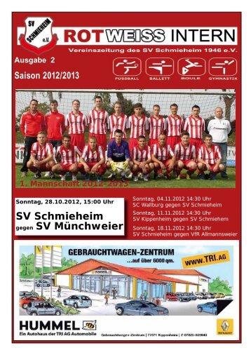 Ausgabe 2, Saison 2012/2013 - SV Schmieheim