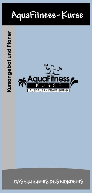 AquaFitness - Kursangebot und Planer - HolstenTherme