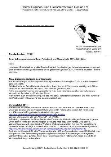 Rundschreiben 02 aus 2011 - HDGV