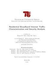 Residential Broadband Internet Traffic - ICSI Networking Group