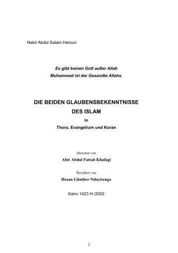 DIE BEIDEN GLAUBENSBEKENNTNISSE DES ISLAM - Way to Allah