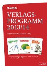 Katalog Polytechnische Schulen - Wissen ist MANZ