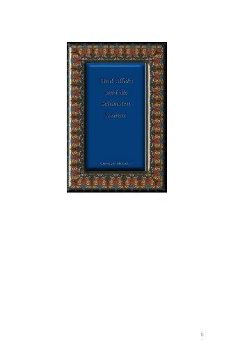 Und Allahs sind die Schönsten Namen (PDF) - Way to Allah