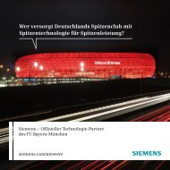 Innovative Stadion-Technologie - Siemens