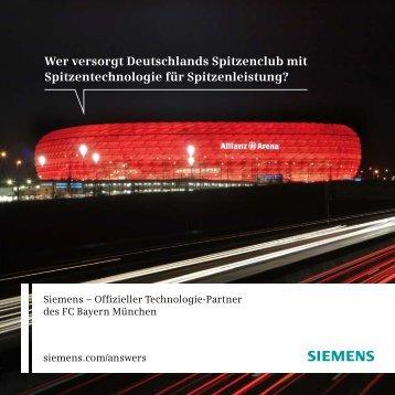 Innovative Stadion-Technologie - Siemens