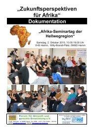 """""""Zukunftsperspektiven für Afrika"""" - FUgE Hamm"""