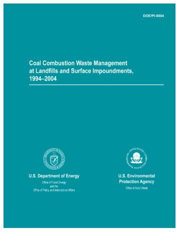 Coal Combustion Waste Management at - DOE - Fossil Energy ...