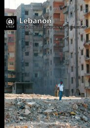 Post Conflict Assessment report on the Lebanon - UNEP