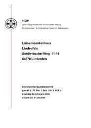 Qualitätsbericht, Luisenkrankenhaus Lindenfels - Hessischer ...