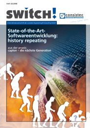 State-of-the-Art- Softwareentwicklung - Consistec Engineering und ...