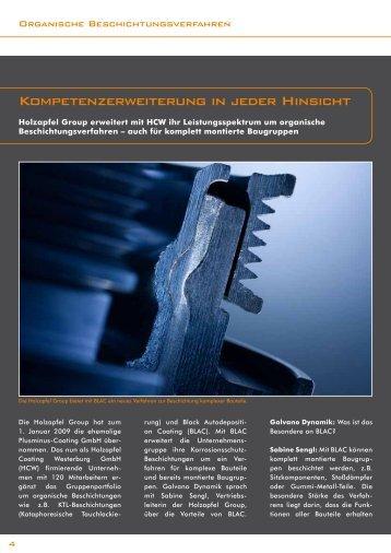 Kompetenzerweiterung in jeder Hinsicht - Holzapfel Group