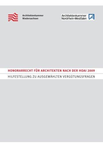 Architekt Hoai honorarordnung