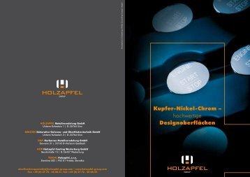 Kupfer-Nickel-Chrom – hochwertige ... - Holzapfel Group