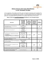 Info Status Chrom VI frei - Holzapfel Group