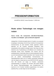 presseinformation - Holzapfel Group