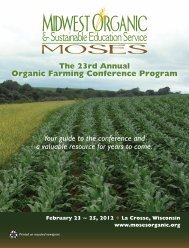 Organic Farming Conference Program - Midwest Organic and ...