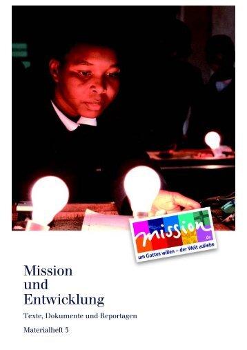 Mission und Entwicklung - mission.de