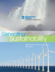 Generating Sustainability 2010-2012 - New York Power Authority