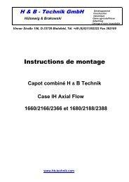 Instructions de montage - H+B Technik